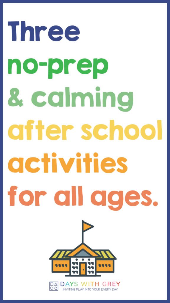 after school routine for kids