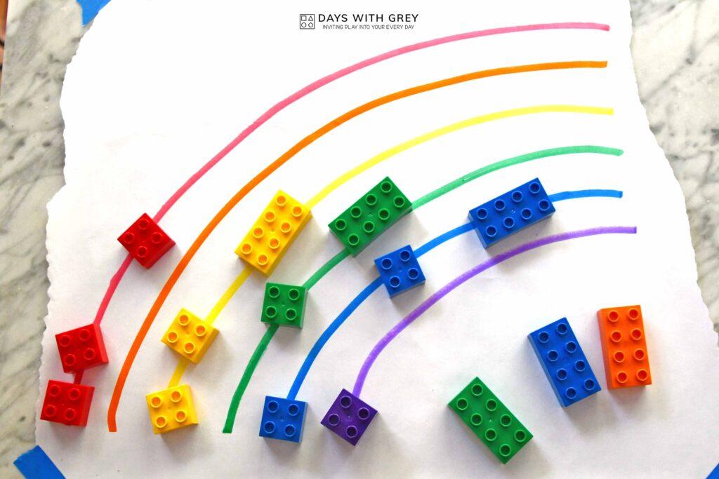 preschool color sorting