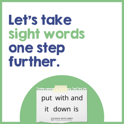 word mapping sight words