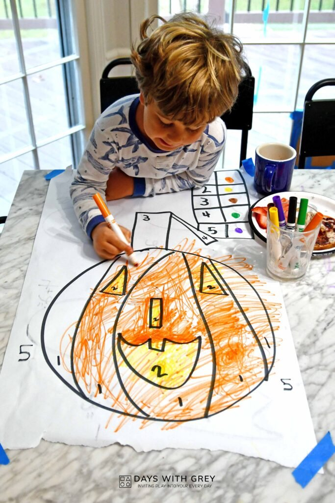 Jack o lantern color sheet