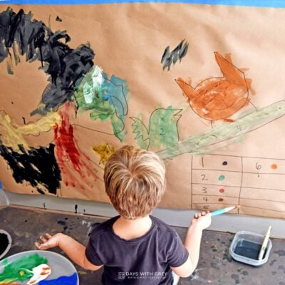 Halloween painting for kids