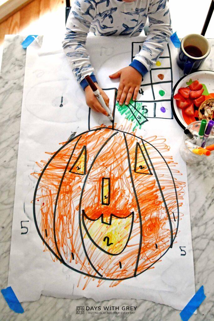 Halloween fine motor for preschool